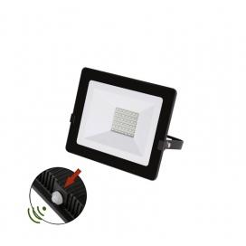 LED SMD Μαύρος Προβολέας με Φωτοκύτταρο Ημέρας - Νύχτας 30W 120° 4000K (3-0303011)