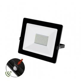 LED SMD Μαύρος Προβολέας με Φωτοκύτταρο Ημέρας - Νύχτας 50W 120° 4000K (3-0305011)