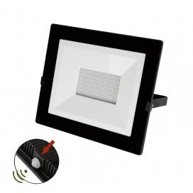 LED SMD Μαύρος Προβολέας με Φωτοκύτταρο Ημέρας - Νύχτας 100W 120° 4000K (3-03010011)